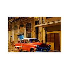 Classic American car at Dawn, Hav Rectangle Magnet