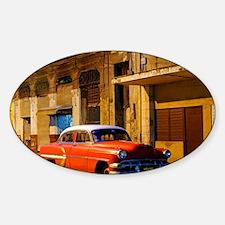Classic American car at Dawn, Havan Sticker (Oval)