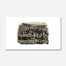 By Invocation Only Car Magnet 20 x 12