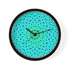 Sea Green Lattice Wall Clock