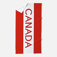 Canada (White Stripe) Beach Towel