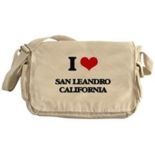 I love San Leandro California Messenger Bag