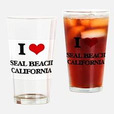 I love Seal Beach California Drinking Glass