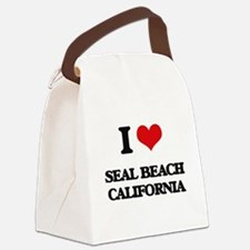 I love Seal Beach California Canvas Lunch Bag