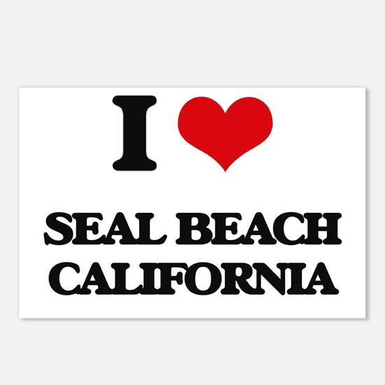 I love Seal Beach Califor Postcards (Package of 8)