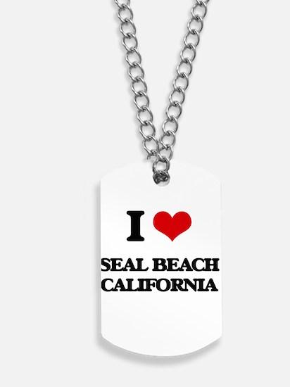I love Seal Beach California Dog Tags