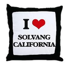 I love Solvang California Throw Pillow