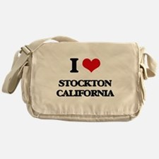 I love Stockton California Messenger Bag