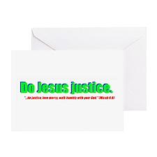 Jesus Justice Greeting Card