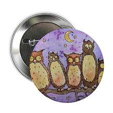 "Cute Owl tree 2.25"" Button"