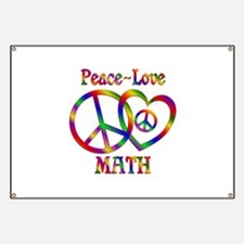 Peace Love Math Banner