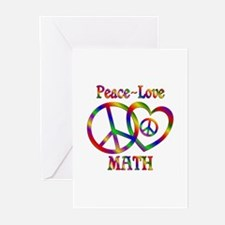 Peace Love Math Greeting Cards (Pk of 10)