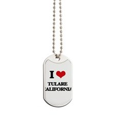 I love Tulare California Dog Tags