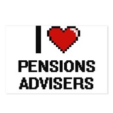 I love Pensions Advisers Postcards (Package of 8)