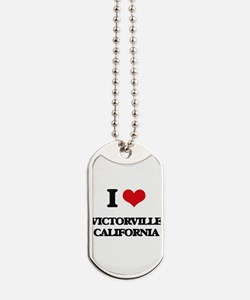 I love Victorville California Dog Tags