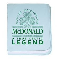 McDonald, A True Celtic Legend baby blanket