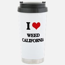 I love Weed California Travel Mug
