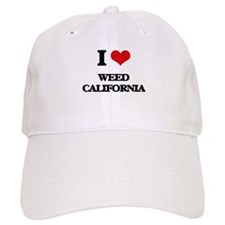 I love Weed California Baseball Cap
