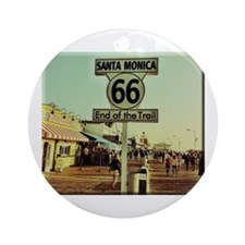 Route 66 End of Trail Ornament (Round)