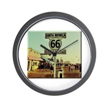 Route 66 End of Trail Wall Clock