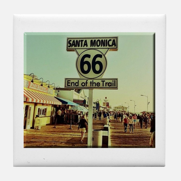 Route 66 End of Trail Tile Coaster