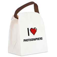 I love Photographers Canvas Lunch Bag
