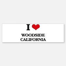 I love Woodside California Bumper Bumper Bumper Sticker