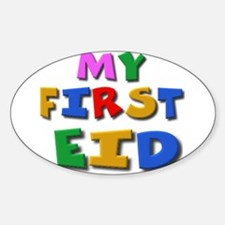 My first Eid Oval Decal