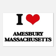 I love Amesbury Massachus Postcards (Package of 8)