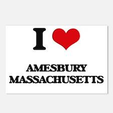 I love Amesbury Massachus Postcards (Package of 8)