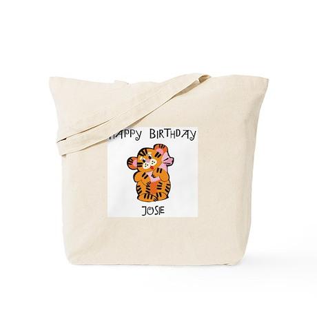 Happy Birthday Josie (tiger) Tote Bag