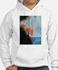 Waterfall with Birds Hoodie