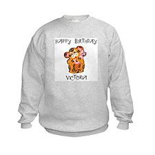 Happy Birthday Victoria (tige Sweatshirt