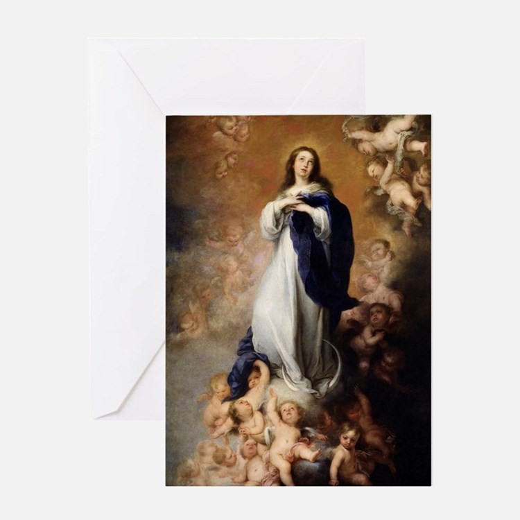 Immaculate Conception by Murillo Greeting Card