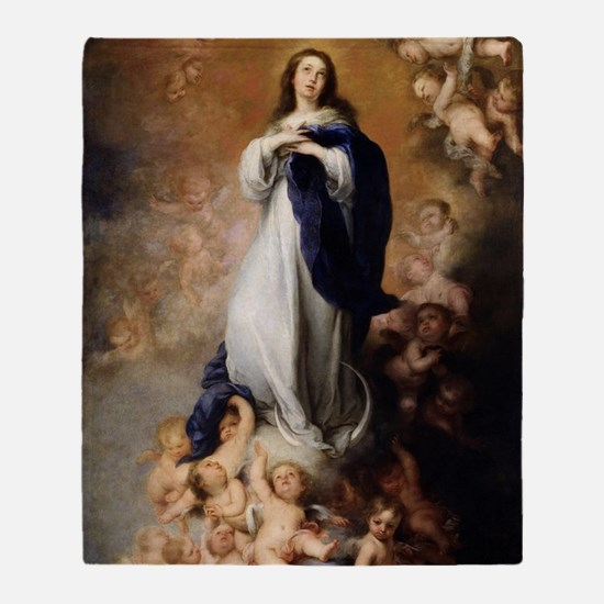 Immaculate Conception by Murillo Throw Blanket