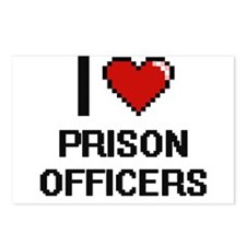I love Prison Officers Postcards (Package of 8)