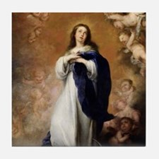 Immaculate Conception by Murillo Tile Coaster