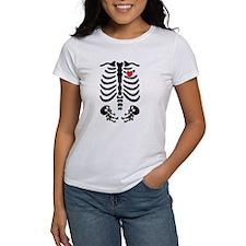 Skeleton Gender Nautral Twins Maternity Design T-S