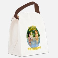 Lake Swimming Canvas Lunch Bag