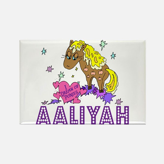 I Dream Of Ponies Aaliyah Rectangle Magnet
