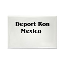 Deport Ron Mexico Rectangle Magnet