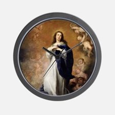 Immaculate Conception by Murillo Wall Clock
