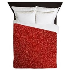 Ruby Red Glitter Queen Duvet