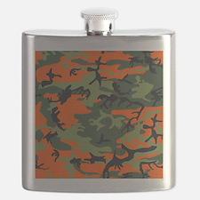 Orange and Green Camo Flask