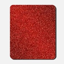 Ruby Red Glitter Mousepad