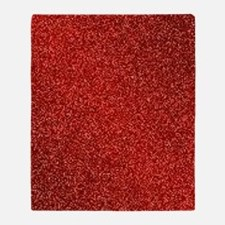 Ruby Red Glitter Throw Blanket