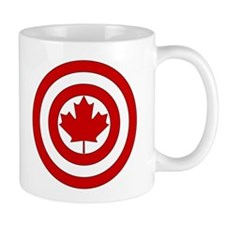 Captain Canada Shield Symbol Mugs