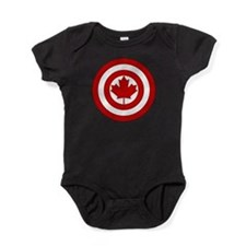 Captain Canada Shield Symbol Baby Bodysuit