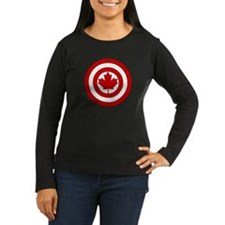 Captain Canada Shield Symbol Long Sleeve T-Shirt