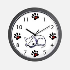 Nap Time Westie Wall Clock
